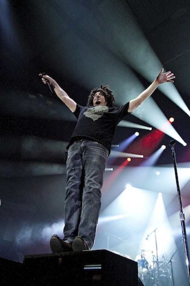 Adam Duritz looked so symbolic yesterday - LENNY MULLINS