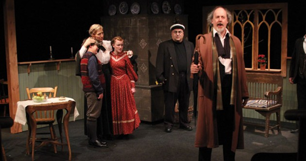 Alex McDonald, Sheila Davis, Annika Borg, Darrel O'Neil and Mike Chandler in An Enemy of the People.