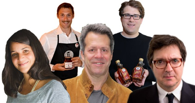 Alimentary guests, from left, Tanya Kelly, Scott Norton, Mark Singer, William Allaway and Scott DeSimon.