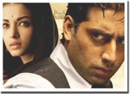 All-singing, all-dancing Aishwarya Rai and Abhishek Bachchan star in Bollywood hit Guru.