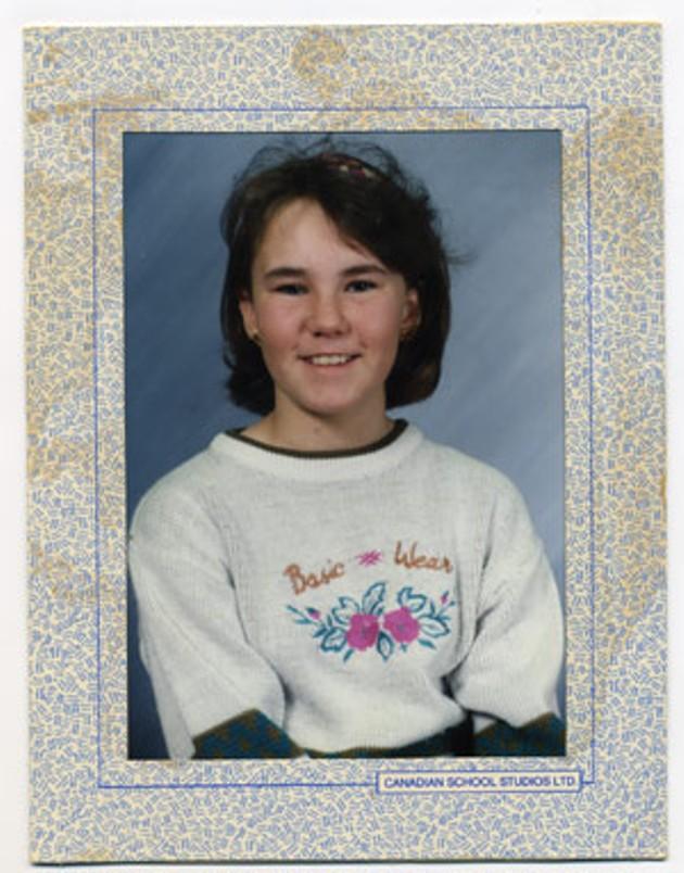 Amy in elementary school