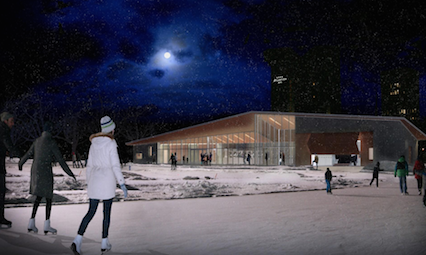 An artist's rendering of the new pavilion. Hot cocoa not included.
