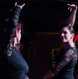 JOERI COPPENS - Andree Blanchet and Janice Godin during a Student showcase performance.