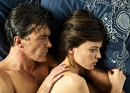 Antonio Banderas and Elena Anaya in bed in The Skin I Live In