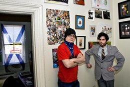 SCOTT BLACKBURN - Art Start Upstairs Apartment Gallery founders Stoo Metz and Chris Lockerbie.