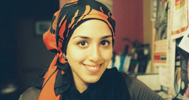 Author Nour Awad in her hijab, which she began wearing at 12.