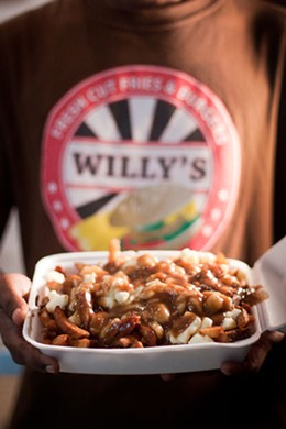 MELISSA DUBÉ - Award-winning poutine at Willy's, Blowers Street, Halifax, Nova Scotia