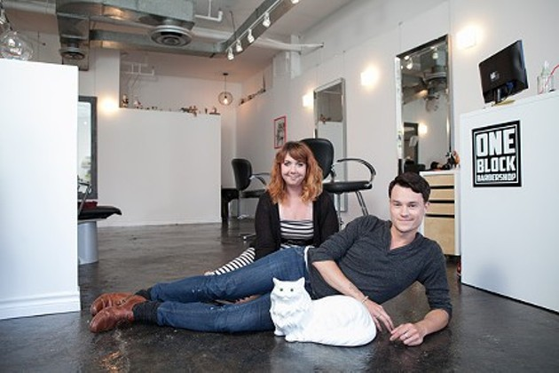 Babe alert: it's stylists Michael Phillips and Robyn Touchie