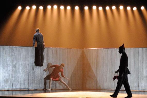 Ballet BC dancers Alexis Fletcher, Gilbert Small and Darren Devaney in Walking Mad. - MICHAEL SLOBODIAN
