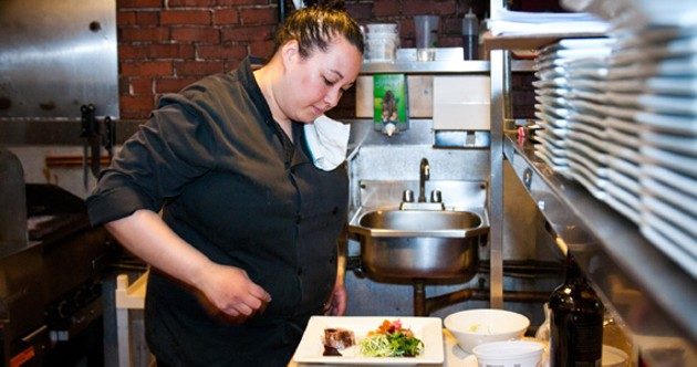 Beth Muise, head chef at The Press Gang, creates a Titanic meal with a twist. - BIANCA MÜLLER