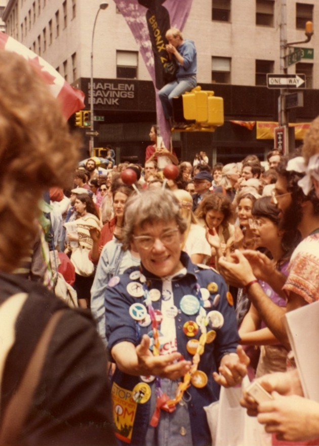 Betty Peterson, attending the June 12 1982 Peace March in New York City. - CANADIAN MUSEUM OF IMMIGRATION AT PIER 21