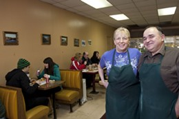 PHOTOS JULÉ MALET-VEALE - Beverly Griswold and Tyler Slaunwhite of the Westcliff diner.