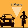 Bicyclists get a metre