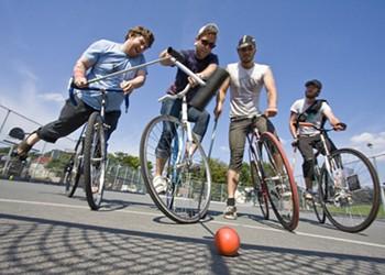 Bike polo hits Hali