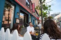 Bistro Le Coq patio, Argyle Street, Halifax, Nova Scotia