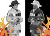 Black firefighters enraged
