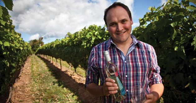 Blomidon Estate Winery's Simon Rafuse makes an amazing chardonnay. - JEFF HARPER