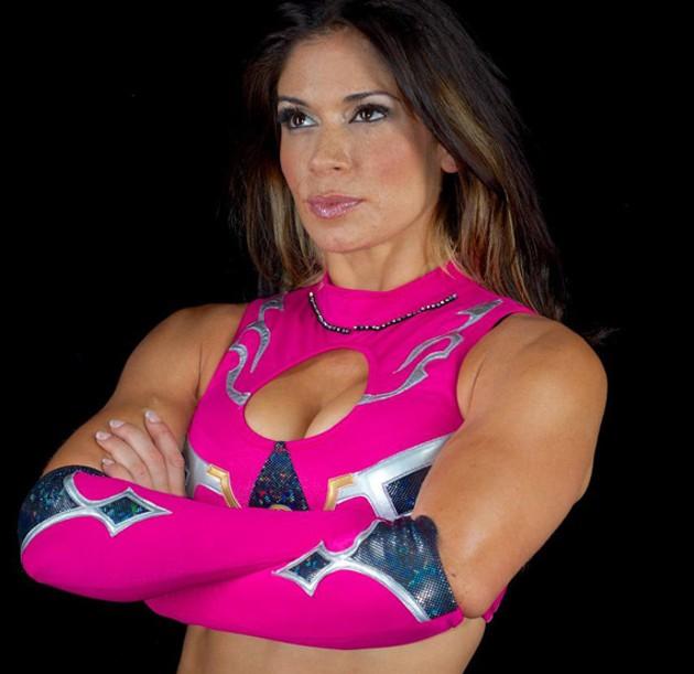 Champion wrestler Sarita is signing autographs Saturday.