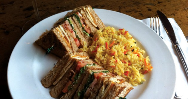 Club sandwich at the Hunt Club - KRISTEN PICKETT