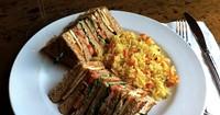 Club sandwich at the Hunt Club