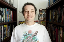 PHOTO: JULÉ MALET VEALE - Comic relief Mike Crossman sees opportunities for new comic distributors.