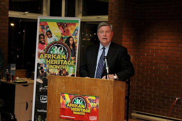 Consul General Richard Riley speaks at the African Heritage Month opening night event back in January. - HALIFAX PUBLIC LIBRARIES