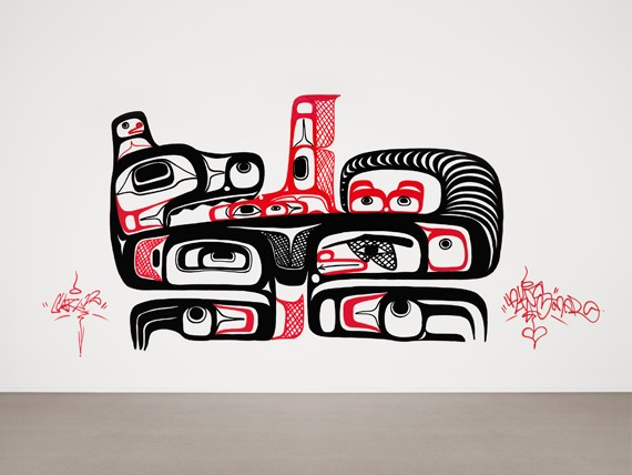 Corey Bulpitt and Larissa Healey, Wasco, 2012, site-specific graffiti mural, Courtesy of the artists. - RACHEL TOPHAM, VANCOUVER ART GALLERY