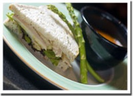 Currying flavour Apple curry chicken sandwich and asparagus-potato soup for lunch.photo Rob Fournier