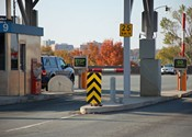 Dangerous toll booth gates.