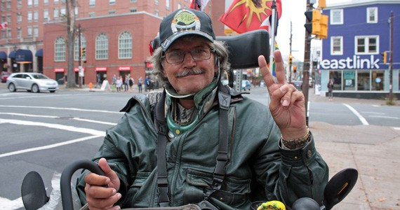 Daniel J. Towsey says Halifax Transit buses aren't safe for wheelchair users. - HILARY BEAUMONT