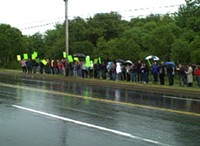 Dartmouth High School students protest bus terminal expansion into the Urban Wilderness Park