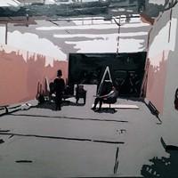 Dave LeRue, White Room #3, 2013, oil on canvas.