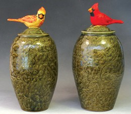 Debra Kuzyk and Ray Mackie of Lucky Rabbit Pottery