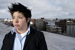 Defiant mapmaker Mi'kmaq artist Ursula Johnson responds to white explorer art.