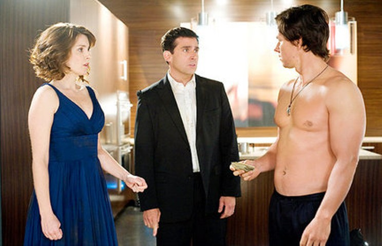 Do you feel a draft? Tina Fey, Steve Carell and Mark Wahlberg in Date Night.