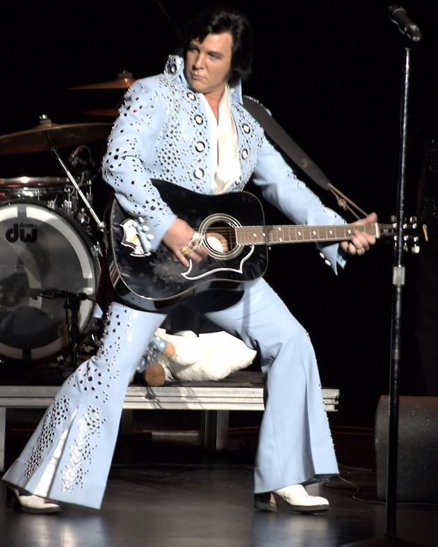 Dunn as Elvis