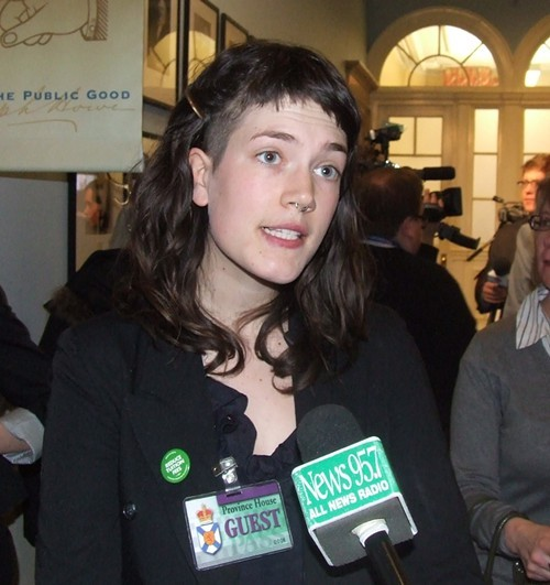 Elise Graham of the Canadian Student Federation