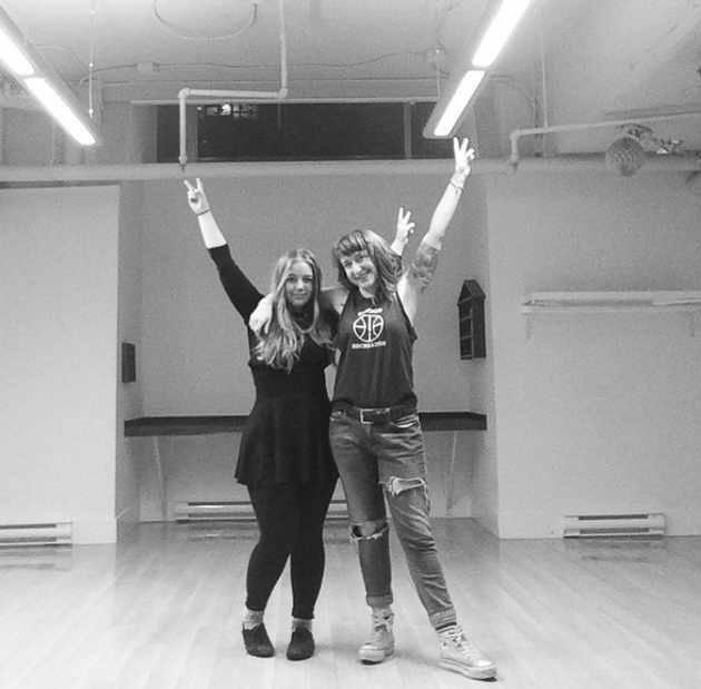 Emily Ross and Lindsay Stewart's happy moving faces - VIA @BIGPONYHFX