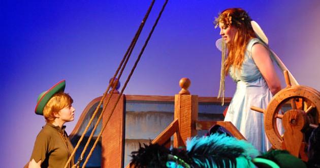 Emma Cruddas and Emily Stuart in Captain Hook's Revenge.