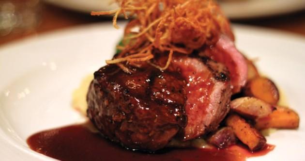 Fleur de sel hickory sticks top the succulent roast PEI beef. - MELISSA BUOTE