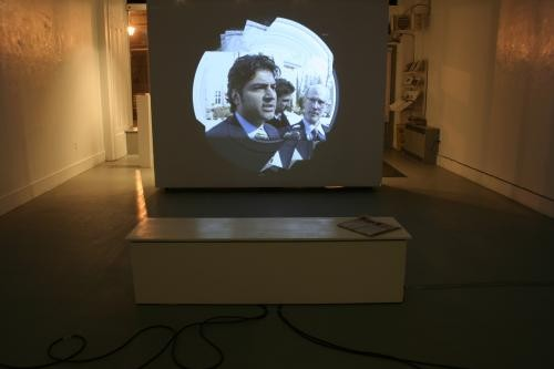 Former MP Rahim Jaffer gets media spin in Pudy Tongs MFA exhibition, March 9.