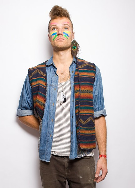 Freak folk aficionado: This is easy and comfortable, but you probably shouldn't wear socks. Apply colourful face paint, some feathers and wear a headband. WWDBD? (Devendra Banhart, doye.) - SCOTT BLACKBURN