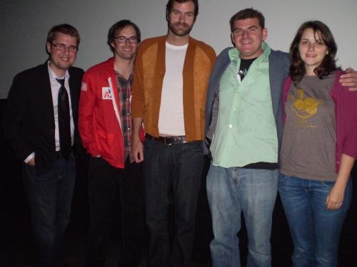(From L-R) Dir. Adam Perry, Cast members: Jeremy Larter, Lennie MacPherson, Graham Putnam and Jill McRae