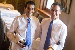 From left: Da Maurizio's Kelly Allen and Carlo Giaretta provide service with a smile.photo Rob Fournier
