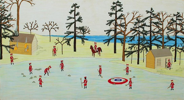 From Terroir. Image: Mario Doucette, 1755 (Curling III), 2008, pastel, coloured pencil, ink and acrylic on plywood; 66.4 x 121.8 cm. Purchase, 2010.