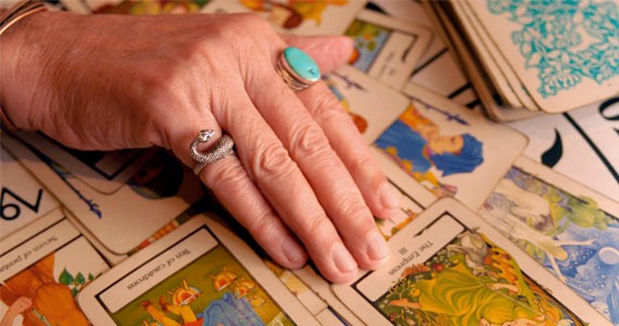 Get your tarot cards read at the Psychic Fair.