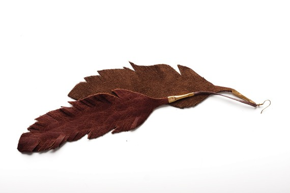 GIVE OLD A LIFE-OFF - Chlöe Gordon leather feathers, $20, The Clothes Horse, 1530 Queen, 483-7067.