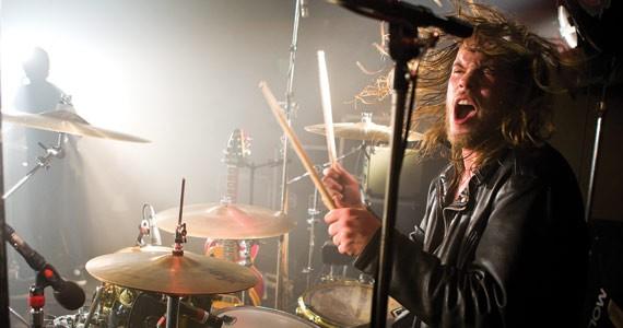 Gloryhound drummer Shaun Hanlon plays to win in the drummers' seller's market. - SCOTT BLACKBURN