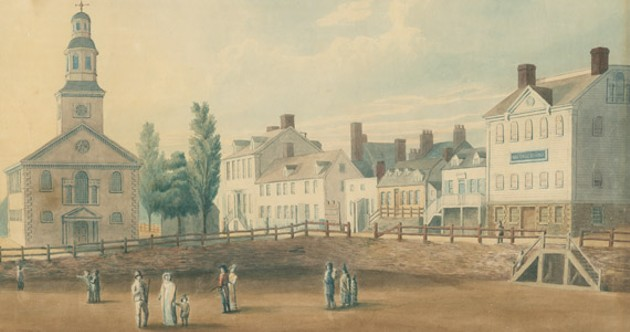 "Grand Parade Square circa 1819, when ""Haligonian"" was already a thing. - NOVA SCOTIA ARCHIVES"