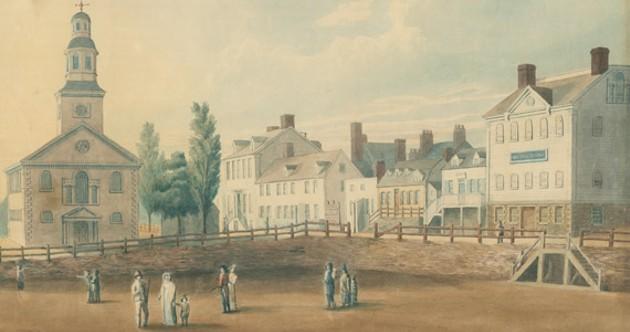 "Grand Parade Square circa 1819, when ""Haligonian"" was already a thing. - NOVA SCOTIA ARCHIVES"